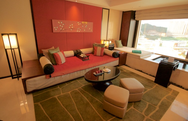 Banyan Tree Macau Review 2016 Livingroom Sofa