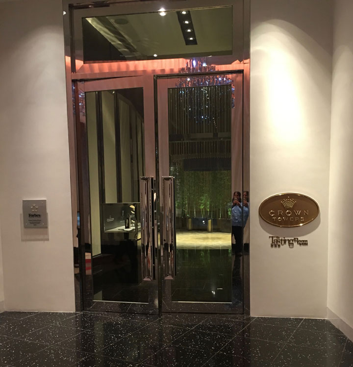 Crown Towers Macau Review Lobby Door