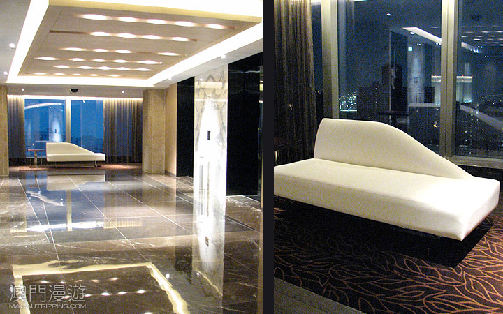 Crown Towers Macau Review  Elevator Couch