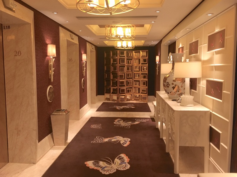 Encore Macau Grand Salon Suite Review 2016 Elevator Landing Reverse