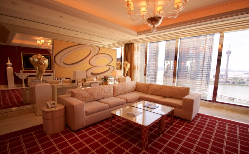 Encore Macau Grand Salon Suite Review 2016 Livingroom Couches