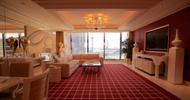 Encore Macau Grand Salon Suite Review 2016 Livingroom
