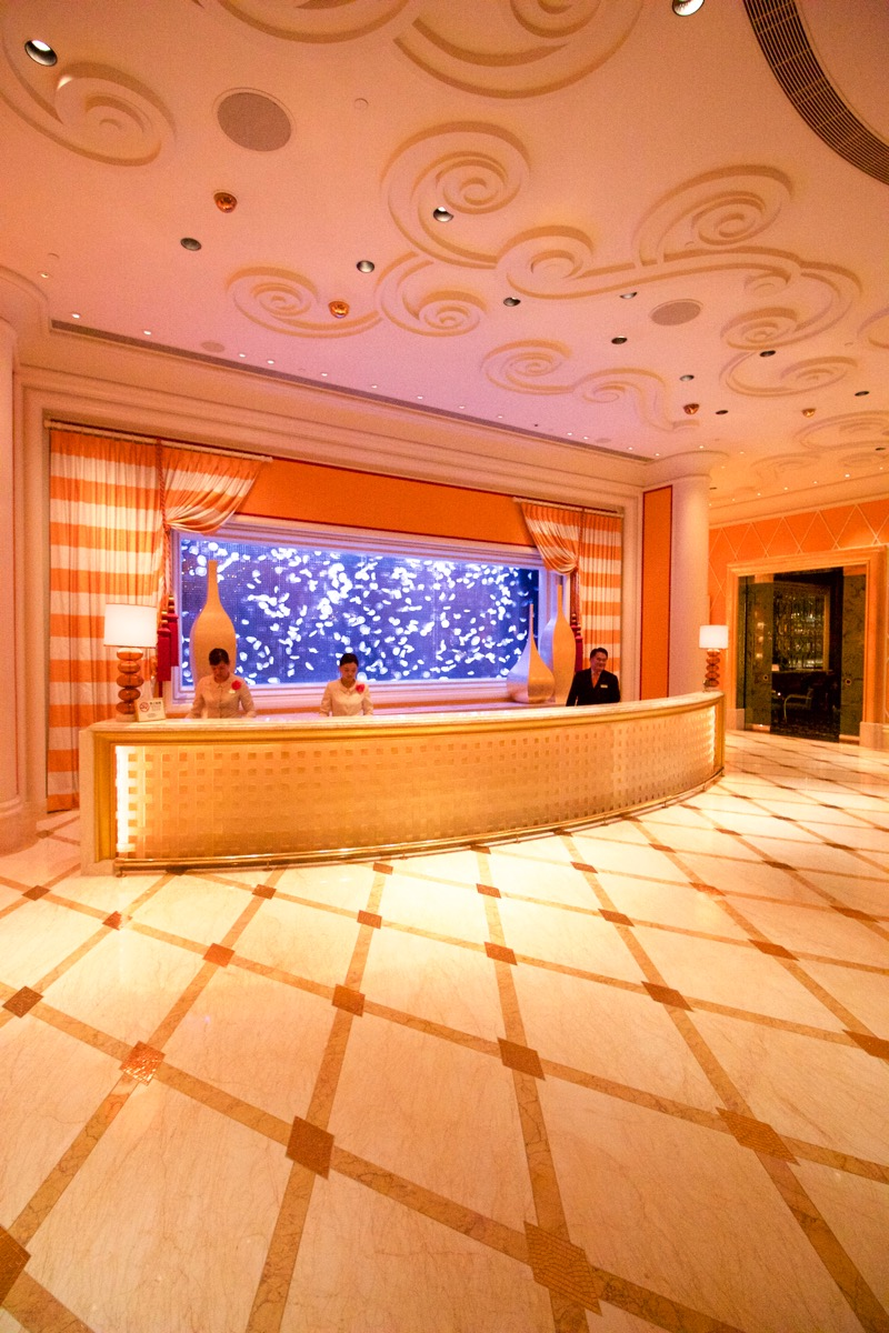 Encore Macau Grand Salon Suite Review 2016 Lobby Front Desk