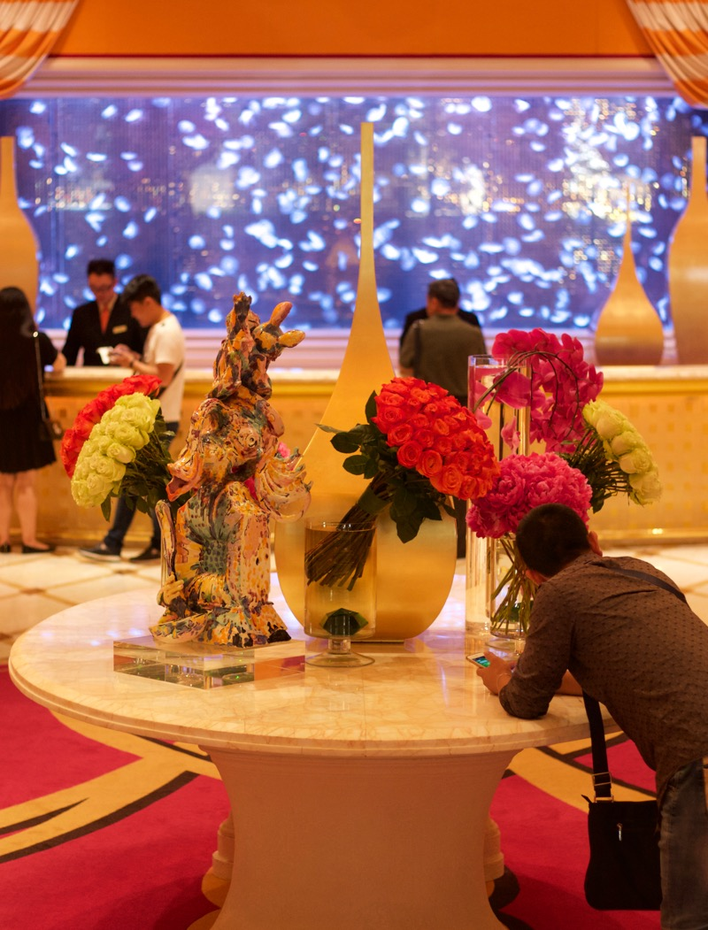 Encore Macau Grand Salon Suite Review 2016 Lobby Table