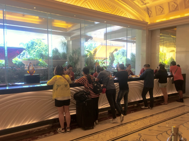 Galaxy Macau Review Lobby Check In