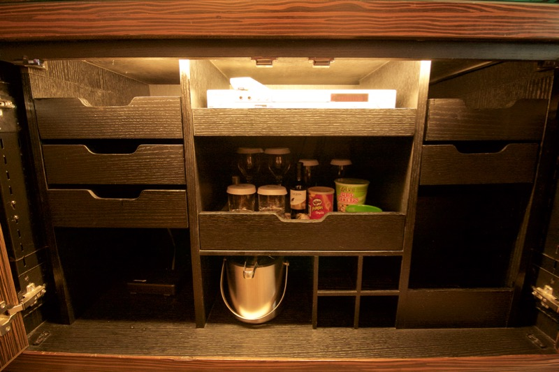 Sands Macao Deluxe Suite Review 2016 Minibar Cabinets