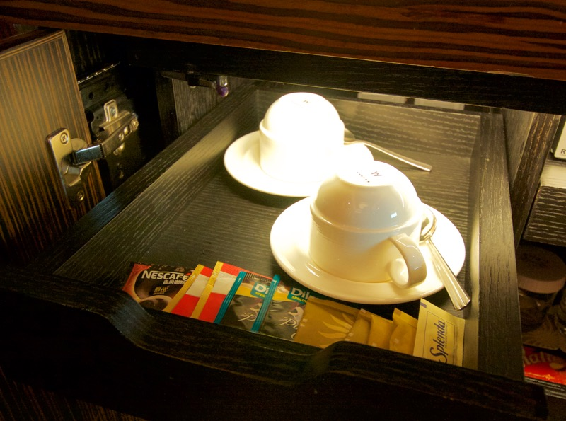 Sands Macao Deluxe Suite Review 2016 Minibar Teacups