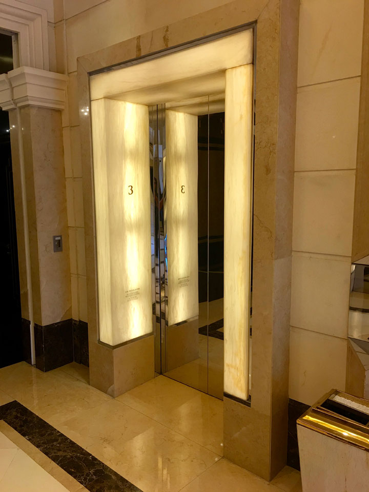 Sofitel Ponte16 Review 2016 Elevator Lights