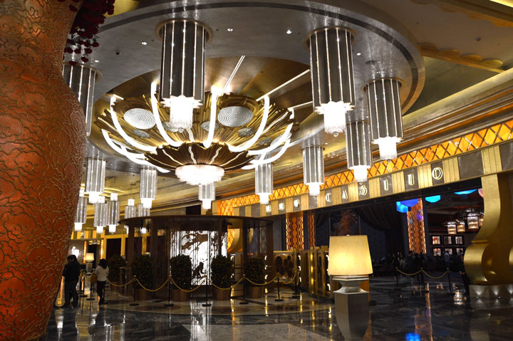 Studio City Macau  Lobby Chandelier