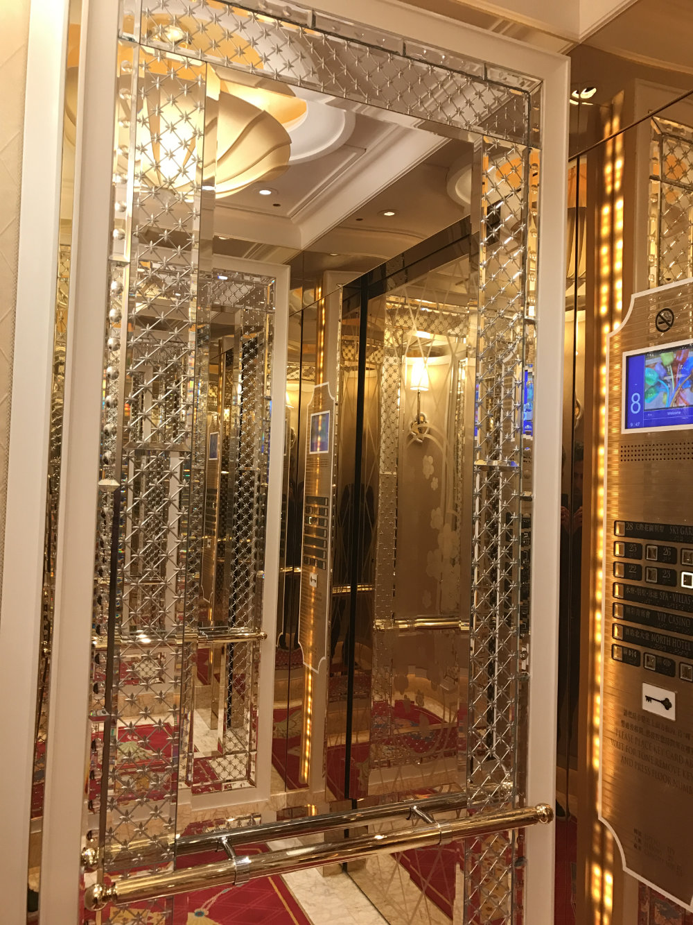 Wynn Palace Parlor Suite Review 2017 Elevator 1