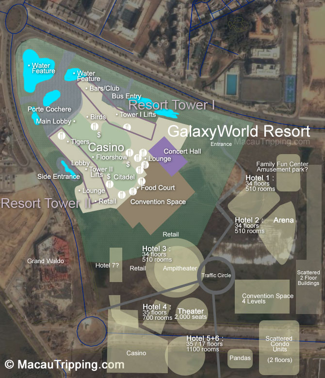 Galaxy World Cotai Strip Construction Renderings