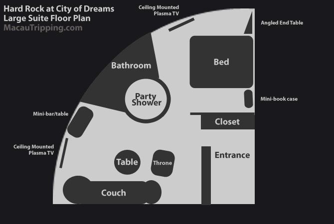 Hard Rock City of Dreams Suite Floor Plan