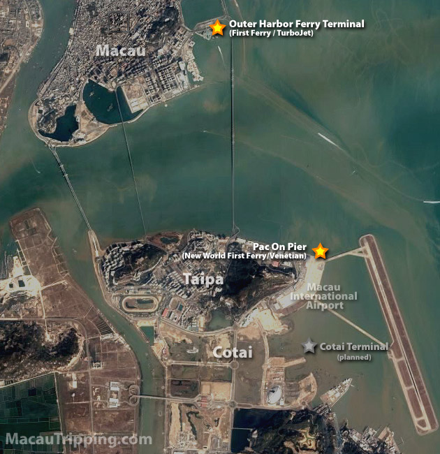 Macau Ferry Terminal Location Map