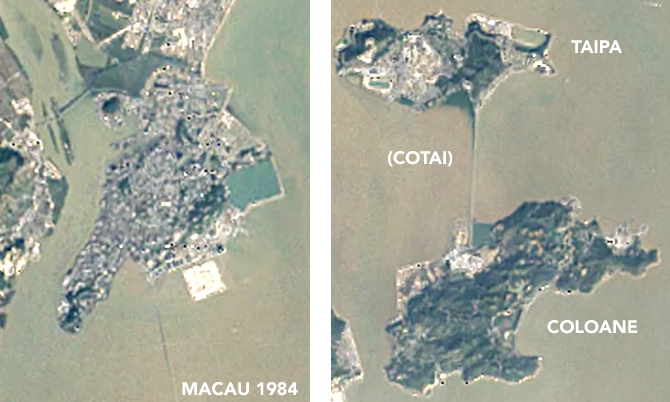 Timelapse: Macau's Amazing Land Reclamation 1984 to 2016 ... on map of stars, map of planets, map of computers, map of texas, map of omaha, map of comets,