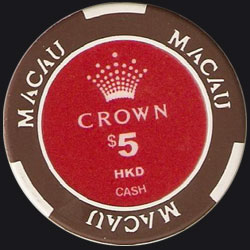 Macau Casino Chips Crown 100