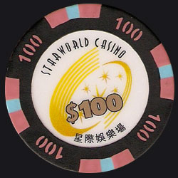 Macau Casino Chips Starworld 100