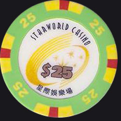 Macau Casino Chips Starworld 25