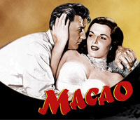 Macao Starring Jane Russell and Robert Mitchum Review :  DVD Cover