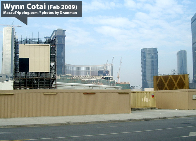 Wynn Cotai Construction Status 2009